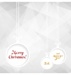 Xmas balls on triangle background vector