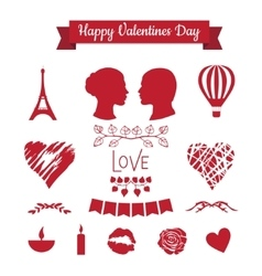 Set of valentines day icons vector
