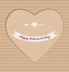 Handmade valentine day cardboard greeting card vector