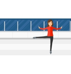 Female figure skater vector