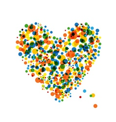 Abstract heart shape vector