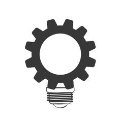 Light bulb with gear icon energy design vector