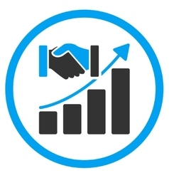 Acquisition growth icon vector