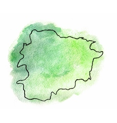 Andorra watercolor map vector