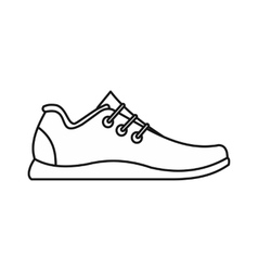Athletic shoe icon outline style vector image vector image