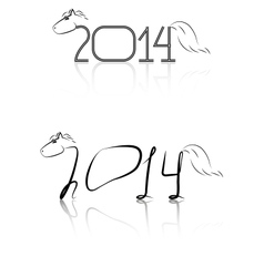 black and white symbol of the new year vector image vector image