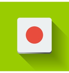 Button with flag of Japan vector image vector image