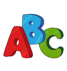 cartoon image of abc letters vector image vector image