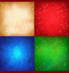 christmas grunge backgrounds collection vector image vector image