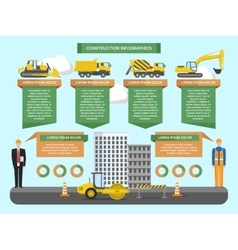 Construction Infographics Template vector image vector image
