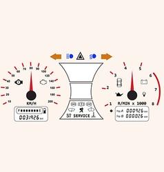 Dashboard part vector