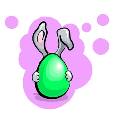 Easter Egg With Rabbit vector image