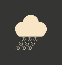 flat in black and white money rain vector image