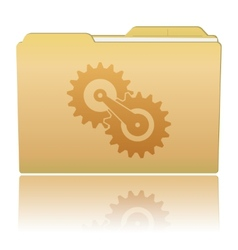 Folder with gearwheels vector