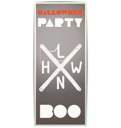 Halloween party poster in retro style vector image