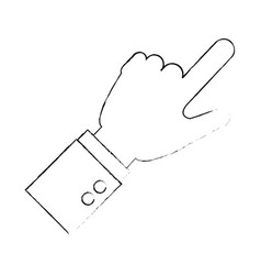 hand human touching icon vector image