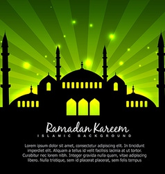 Islamic design with green background vector