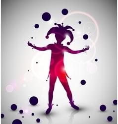 Jester juggler vector