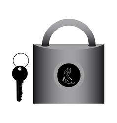 Lock for doors vector