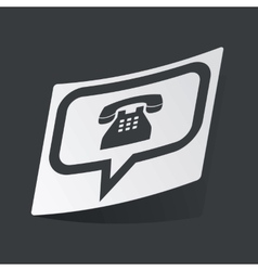 Monochrome phone message sticker vector image vector image