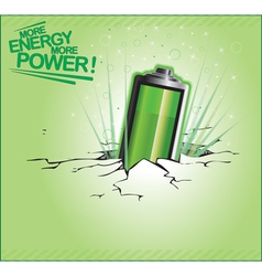 More energy more power vector