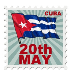 National day of cuba vector