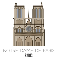 Notre Dame De Paris Pari vector image vector image