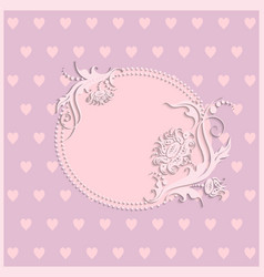 Pink card for girls vector