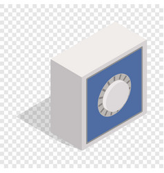 safety deposit box isometric icon vector image vector image