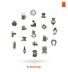 saint patricks day isolated icon set vector image