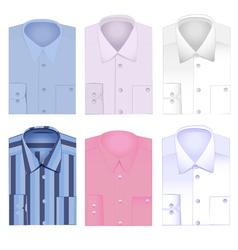 set of shirt shirt for men vector image