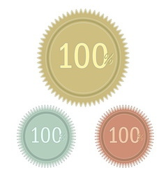 Set of simple web badge vector image