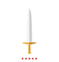 simple sword it is icon vector image