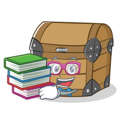 Student with book chest character cartoon style vector