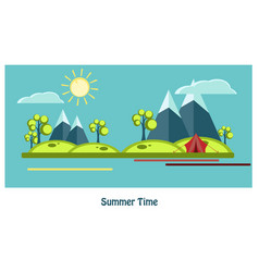 summer flat design vector image vector image