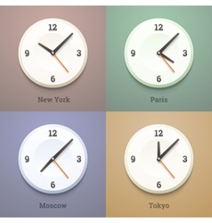 Wall world watches vector image
