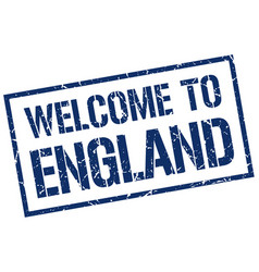 welcome to england stamp vector image vector image