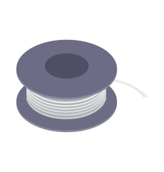 Wire spool icon isometric 3d style vector image