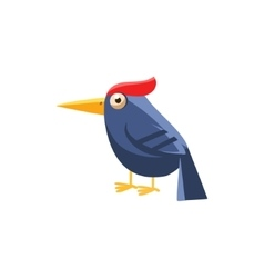 Woodpecker simplified cute vector