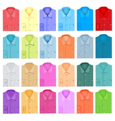 Set of plain shirt dress shirt for men vector