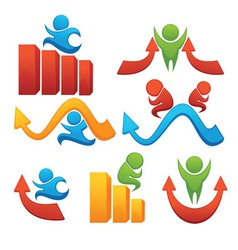 business team success and leadership vector image
