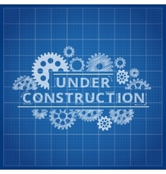 Blueprint website backdrop Under construction vector image