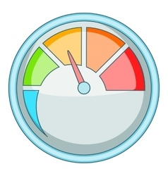 Indicator icon cartoon style vector