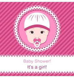 Baby girl shower vector image