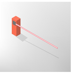 barrier isometric vector image