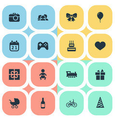 set of simple celebration vector image