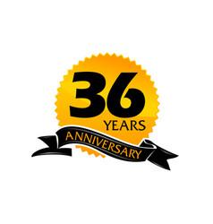 36 years ribbon anniversary vector image