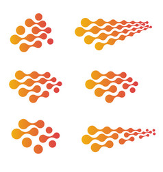Isolated abstract orange and pink color gradient vector