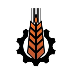 Agriculture and industry icon vector