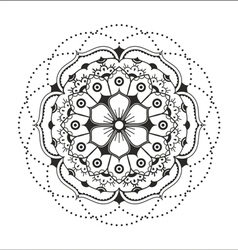 Black mandala on the white background vector